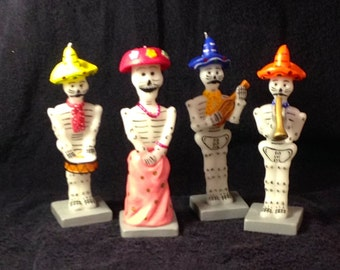 "Day of the Dead (Dia De Los Muertos) Wax Candles  8'"" tall"