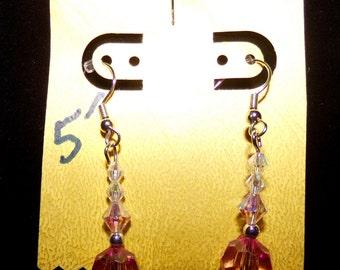 Handcrafted, chandelier crystal, earrings