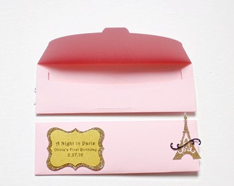 Photobooth - Photo-Strip Envelopes - Wedding Party Favors - First Birthday Favors - Photo booth Favors - Bridal Shower Favors - Paris Party