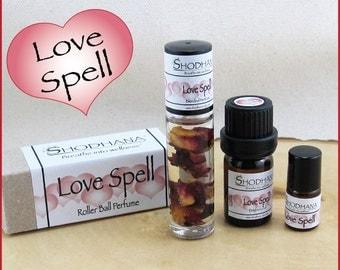 Valentine's Day Fragrance, Shodhana Oils, Love Spell Roller Ball Perfume, Love Spell Fragrance Oil, Love Spell Roller Ball Aromatherapy