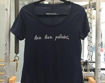 Live Love Pilates Graphic Tee - Ladies Scoop Neck Tee