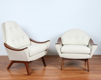 Adrian Pearsall His and Hers Lounge Chairs
