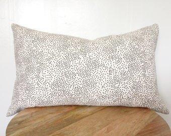 Black and White Dots Lumbar Pillow 15x25""