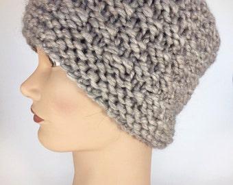 Grey Crochet Hat Womens Beanie Hat Womens Winter Hat Womrns Winter Accessories