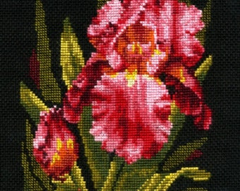 """Counted Cross Stitch Kit Make With Your Hands   - """"Velvet Iris"""""""