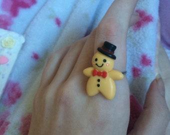 Kawaii GingerBread Man Ring