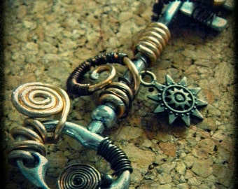 key necklace steampunk