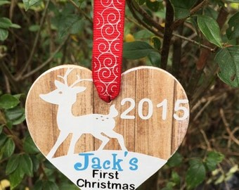 Personalised 1st Christmas Ornament