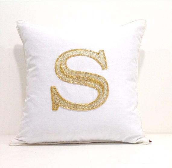 Decorative Monogram Pillows : Initial Pillow Custom Monogram Pillow CoverDorm by DesignandLiving