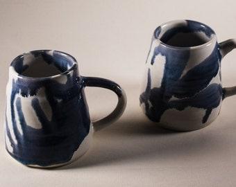 Blue and White Ceramic Tankards/Stein/Mugs