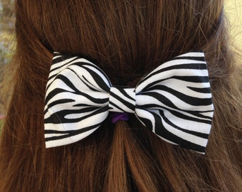 Small Zebra Hair Bow