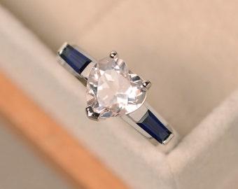 Morganite ring, heart cut ring, engagement ring