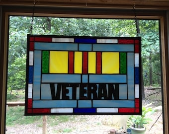 Stained Glass Viet Nam Service Ribbon