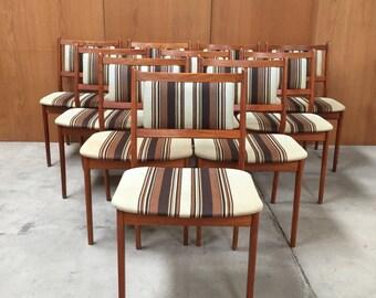 10 Mid century teak chairs danish design