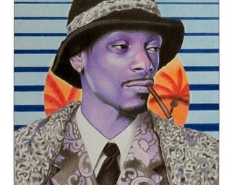 Art print 'Sunset Funk' Snoop Dogg
