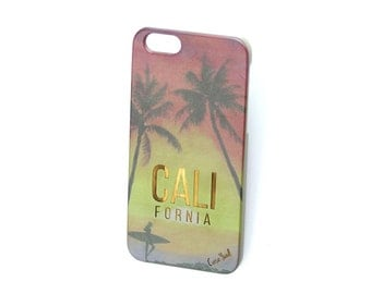 Grey Cali Surfing Girl iPhone 7 case, iphone 6s case iphone 6 case iphone 5 case iphone 6s plus case iphone 6 plus case