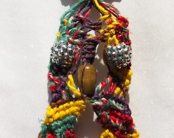 Macrame Rainbow Owl Necklace