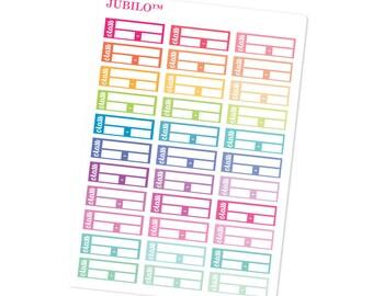 School/College Planner Stickers  - Class Schedule Side Box