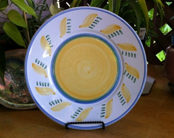 "Williams Sonoma Ceramic Salad Plate - ""Tournesol"" Pattern Made in Italy"