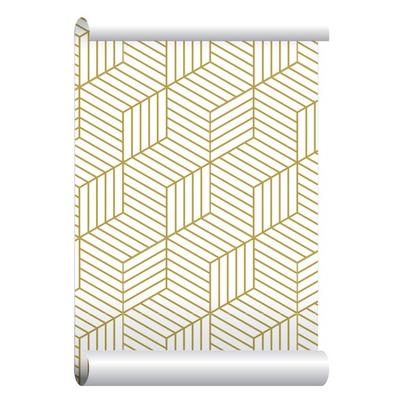 Self adhesive removable wallpaper 3d blocks gold wallpaper for 3d peel and stick wallpaper