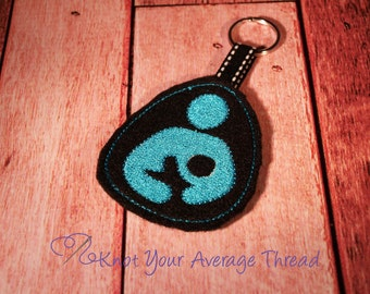 Baby breastfeeding key fob, key chain, baby mom gentle parenting nursing