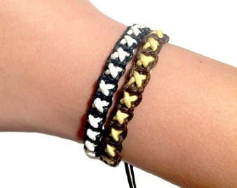Cross shambala bracelet - Do it yourself kit