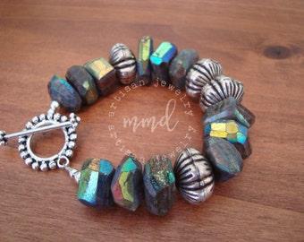 Labradorite and Sterling Silver Bracelet