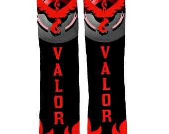 Pokemon Go Team Valor Socks