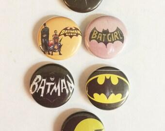 """1"""" Batman pin back buttons"""