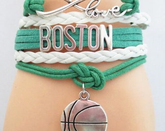 Boston Celtics Bracelet - Charm Bracelet- Perfect Stocking Stuffer!!!