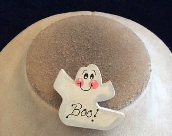 Vintage Halloween Wooden Ghost Pin