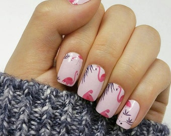 Flamingo Nail Polish Wraps