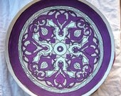 Hand Painted Bamboo Platter/Wall Decor