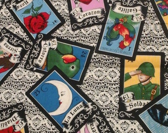 House of Cards Loteria Fabric 1 Yard Cotton