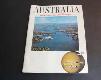 Promotional Booklet for tours to Australia and the South Pacific,the dates inside indicate it was for the 1968-1969 travel season.
