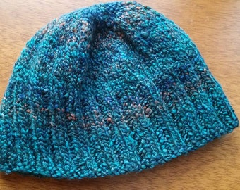 Warm blue winter hat