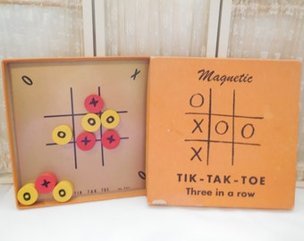 Magnetic Tik-Tak-Toe, Drueke Games, Vintage Tic Tac Toe Game (1967)