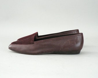 Oxblood Leather Vintage Flats Womens Size 6.5
