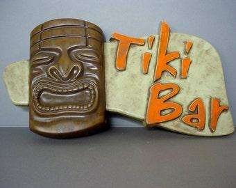 Custom Tiki Bar Sign, Polynesian Pop, Kitsch, Home Tiki Bar