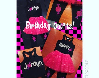 Girls Custom Personalized Birthday Outfits