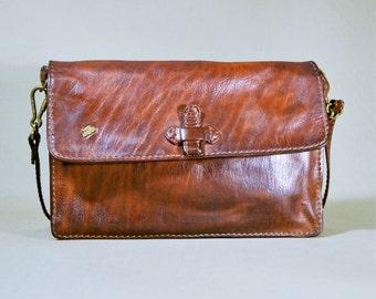 Vintage Brown The Bridge Leather Bag, Shoulderbag, Office Bag, Small Messenger Bag, File Bag, Work Bag