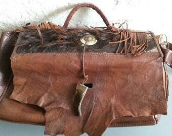 Leather Cowboy Style Handbag '90