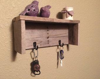 wooden Pallet Key Holder Organizer Shelf