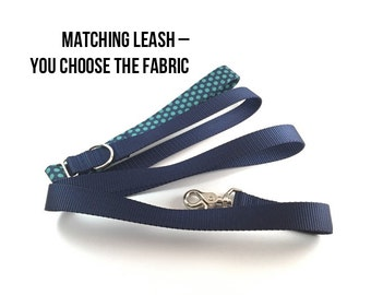 Dog Leash.  Lead leash, 4 foot leash, 5 foot leash, 6 foot leash. Matching fabric leash with d-ring for easy clip-on
