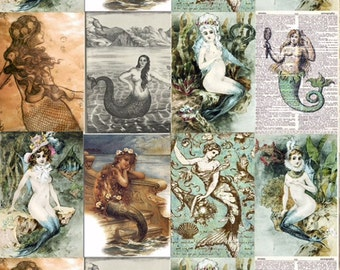 Mermaid decoupage papers 10 sheets