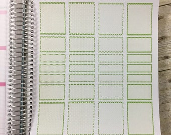 Green Vertical Life Planner Shaded Boxes.