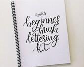 Beginner Brush Lettering Kit | Calligraphy Workbook | DIY Brush Calligraphy Starter Kit