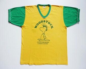 Vintage 80's Tee-Shirt Snoopy Peanuts Woodstock