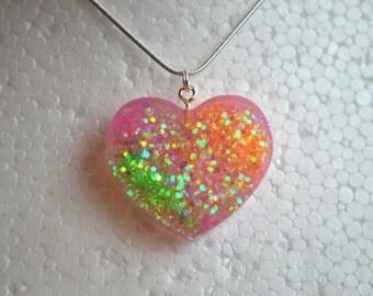 Neon Love Heart Necklace