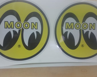 Moon Drag Race Hot Rod Decals Stickers